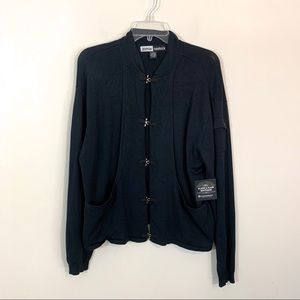 Jamie Sadock • Black Silk Blend Jacket Size Small